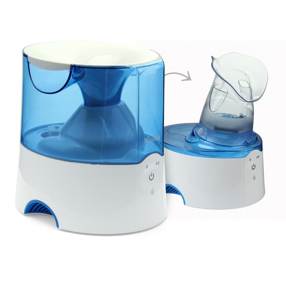 Classic 2-in-1 Warm Mist Humidifier and Steam Inhaler - Blue and