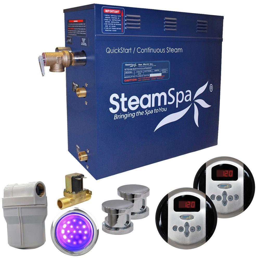 Royal 12kW QuickStart Steam Bath Generator Package with Built-In Auto Drain