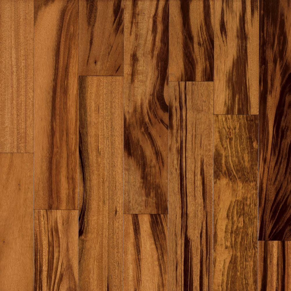 Bruce world exotics tigerwood natural 3 8 in tx 4 3 4 in for Tigerwood hardwood flooring