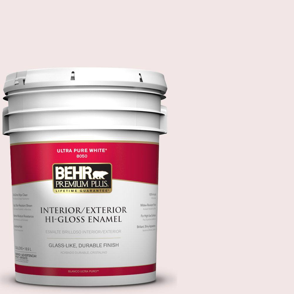 5-gal. #RD-W1 Pink Prism Hi-Gloss Enamel Interior/Exterior Paint