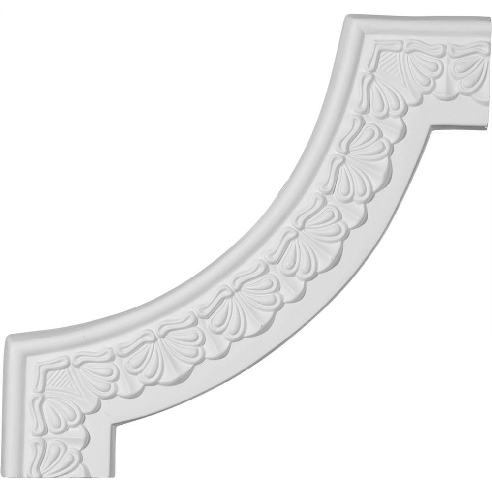 3/4 in. x 10-7/8 in. x 10-7/8 in. Polyurethane Acanthus Leaf