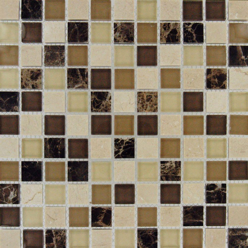 null Alicante Blend 12 in. x 12 in. x 8 mm Glass and Stone Mesh-Mounted Mosaic Tile