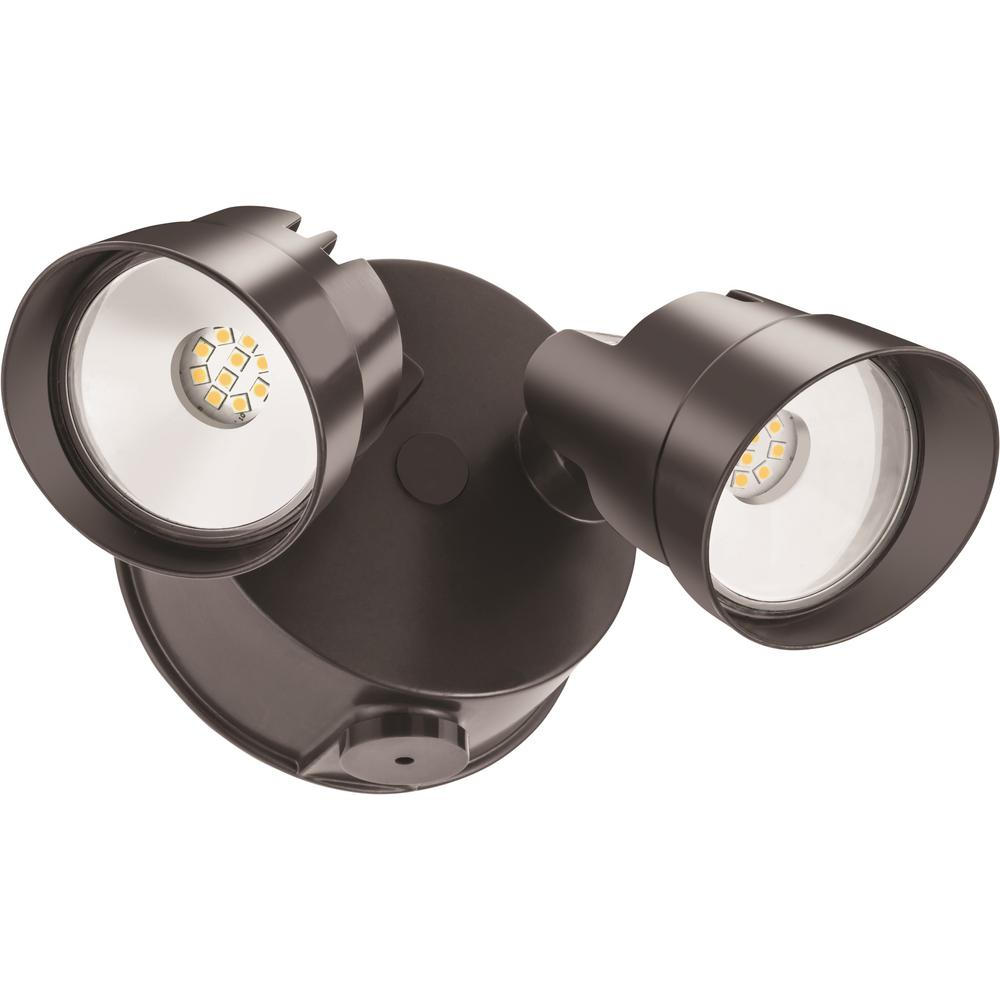 Photo Out Door Dusk: Lithonia Lighting Adjustable Twin Head Bronze 120-Watt