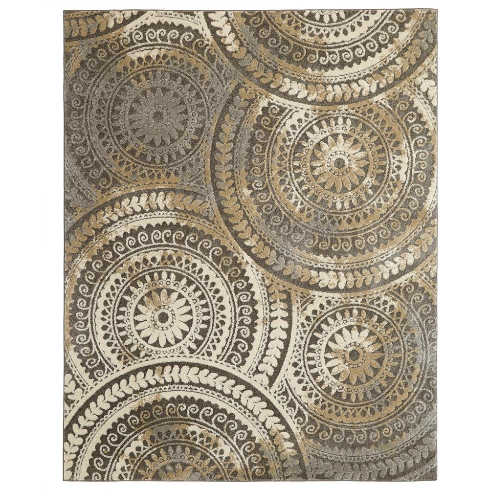 Home decorators collection spiral medallion cool gray 7 ft for Home decorations collections catalog