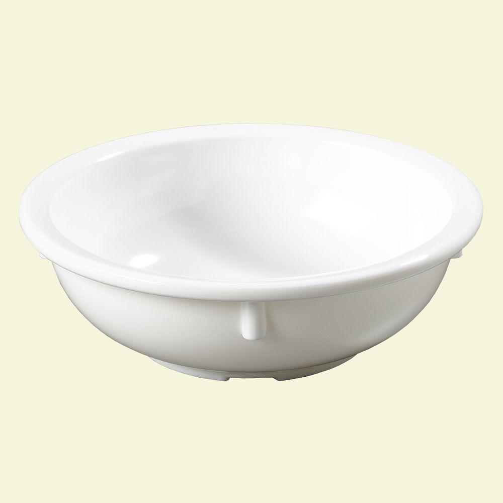 10 oz., 5.12 in. Diameter Melamine Nappy Bowl in White (Case