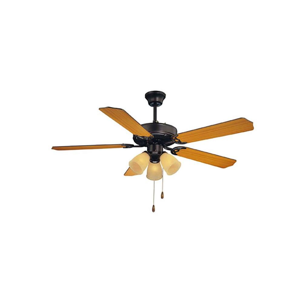 Illumine Manford 52 in. English Bronze Indoor Ceiling Fan-CLI-SH0234231 - The