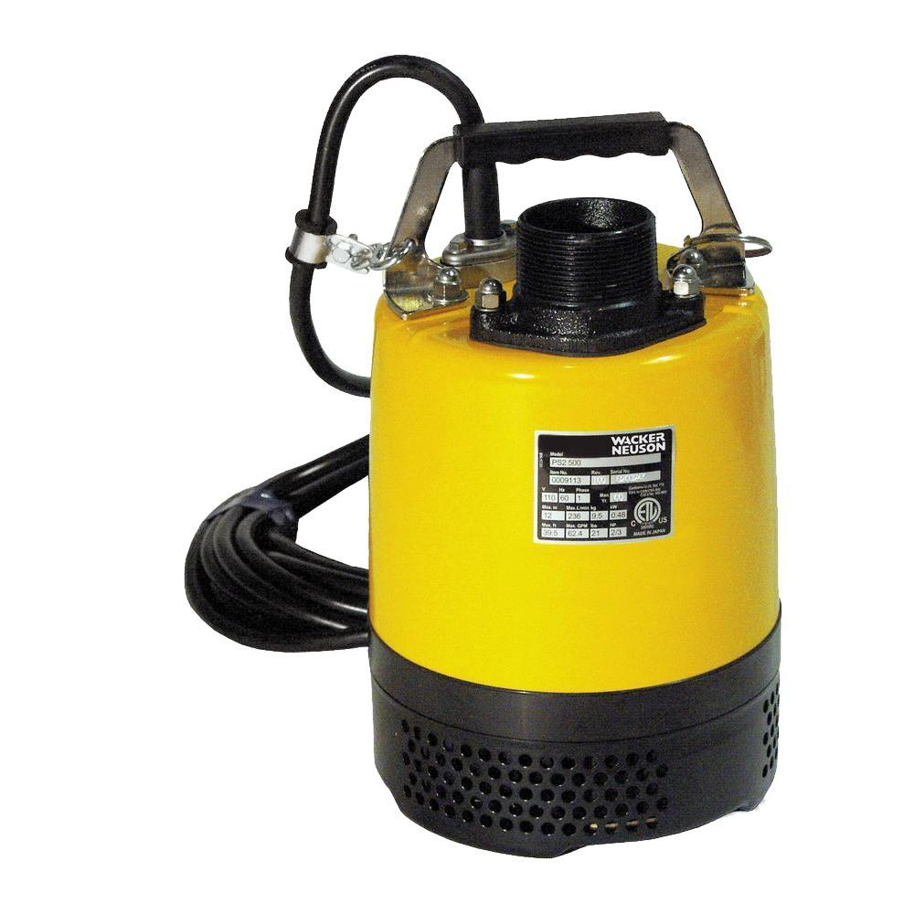 Wacker 2/3 HP Submersible Utility Pump with 2 in. Hose Kit-5100015442