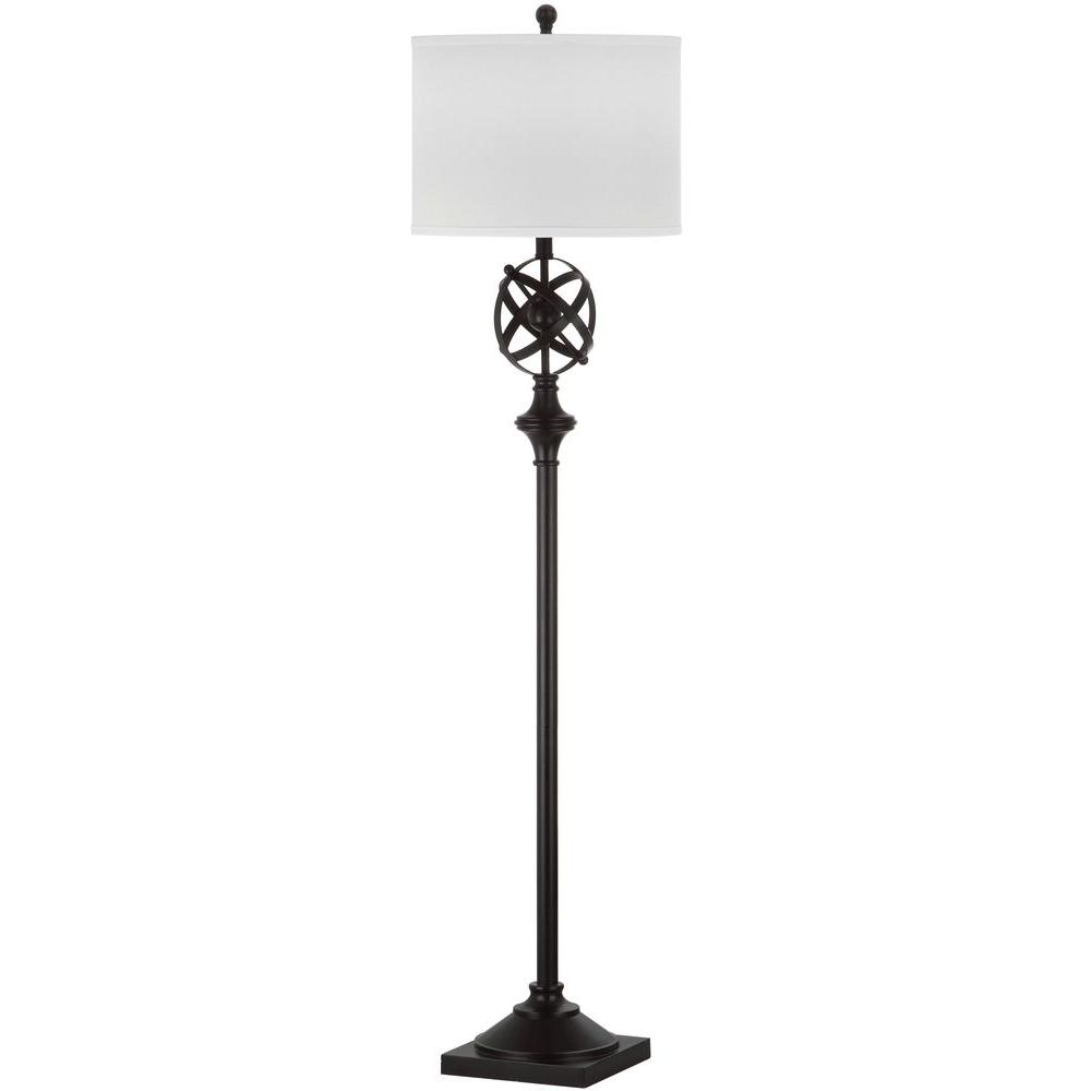 Safavieh Franklin Armillary 60 in. Oil-Rubbed Bronze Floor Lamp with White