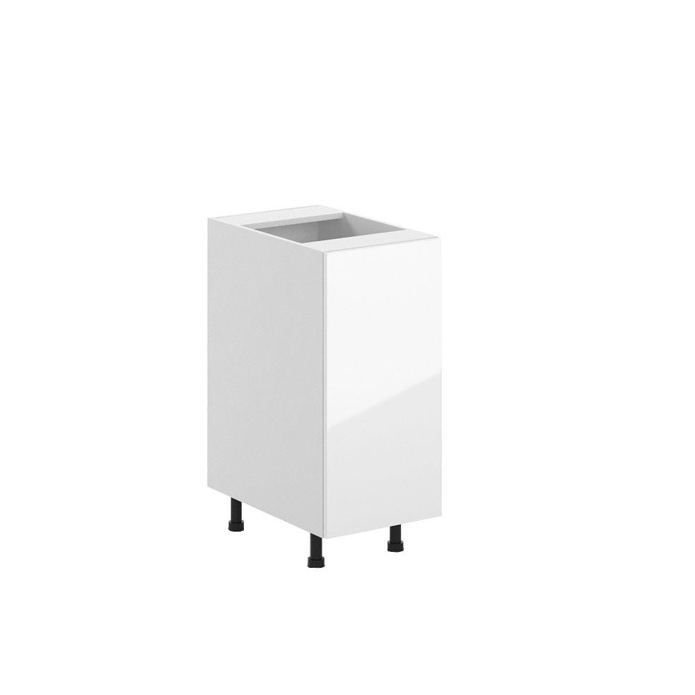 15x34.5x24.5 in. Valencia Full Height Base Cabinet in White Melamine and