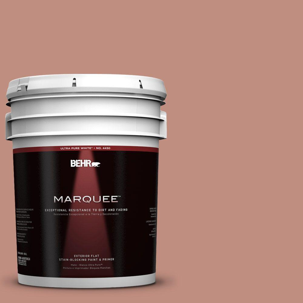 BEHR MARQUEE 5-gal. #200F-4 Foxen Flat Exterior Paint