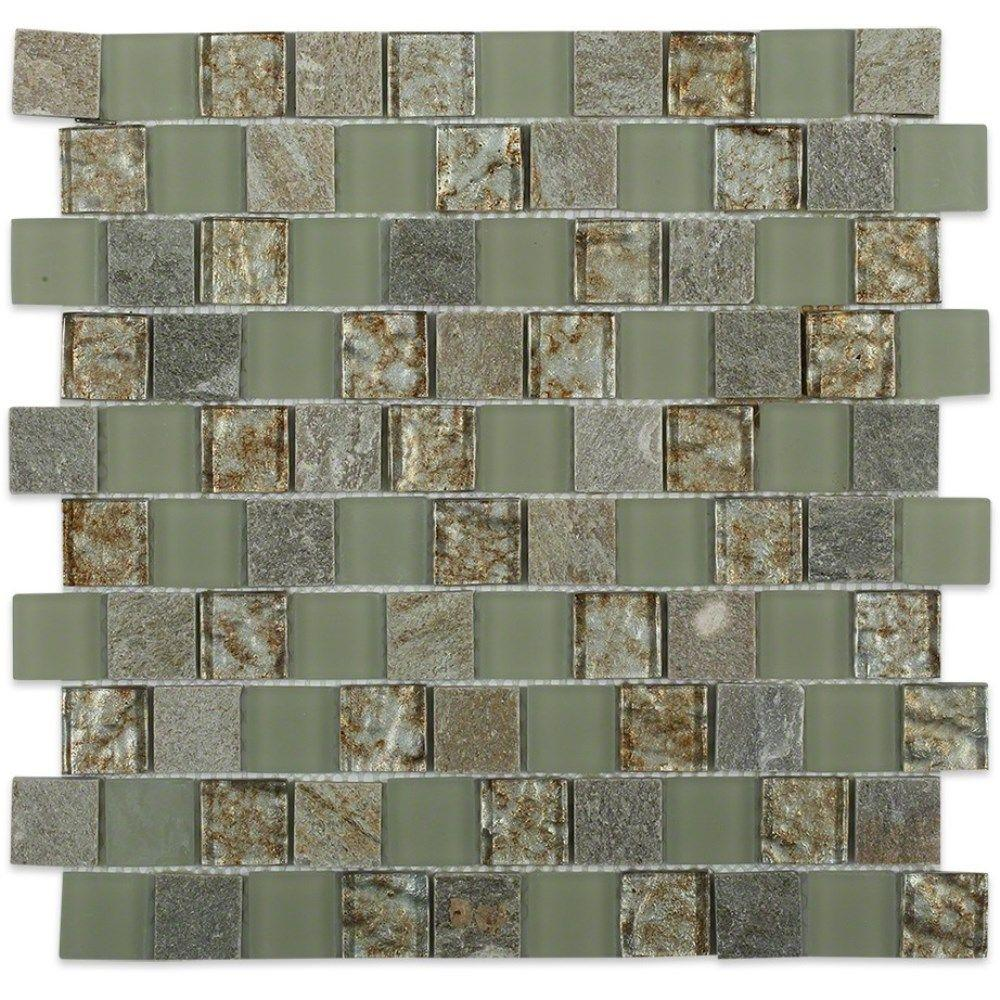 Inheritance Thunder Clouds Marble and Glass Mosaic Wall Tile - 3