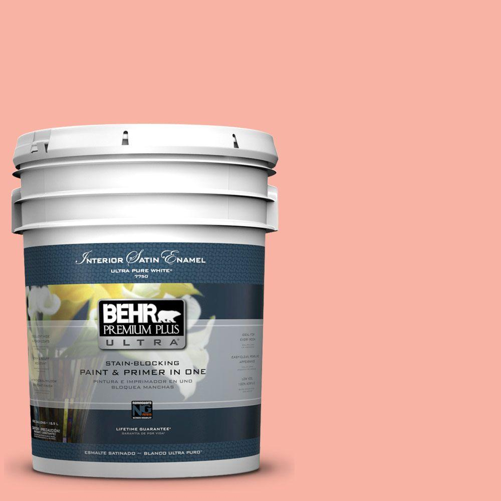 5-gal. #180A-3 Just Blush Satin Enamel Interior Paint