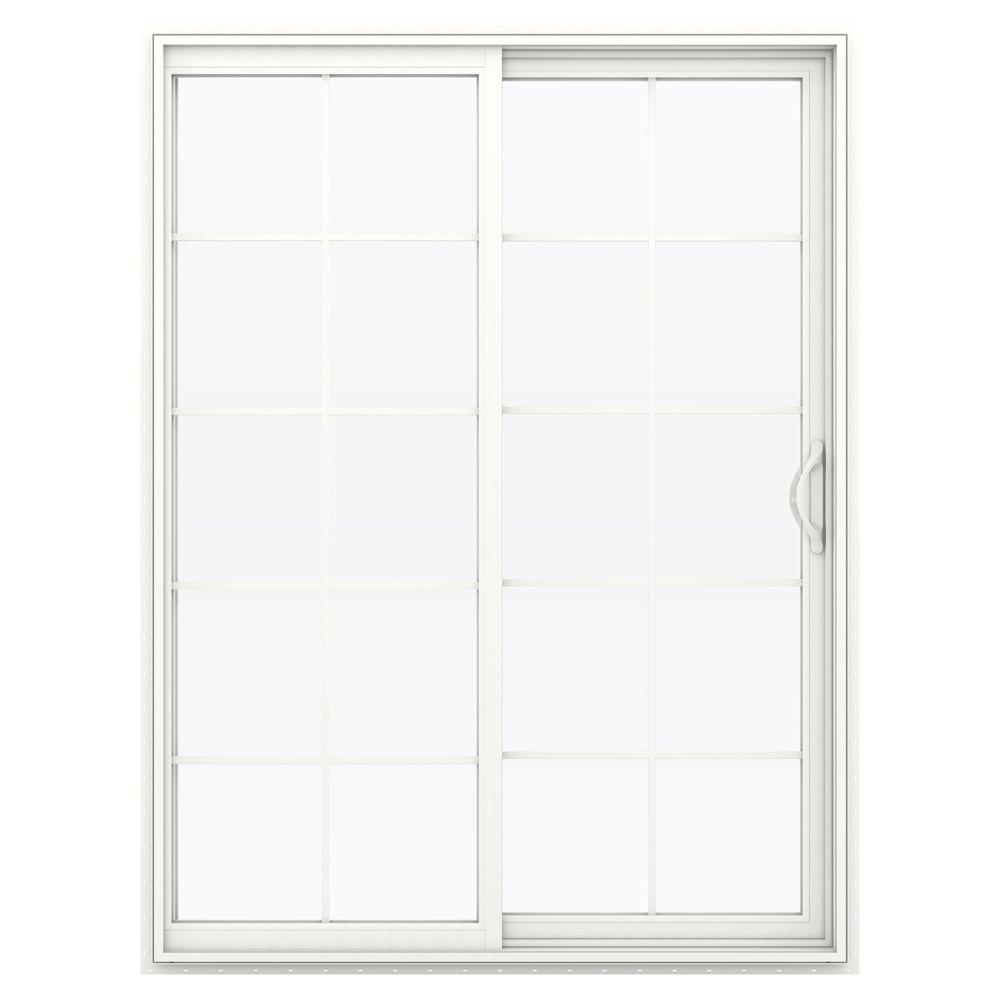 60 in. x 80 in. V-2500 Series Vinyl Sliding Patio Door