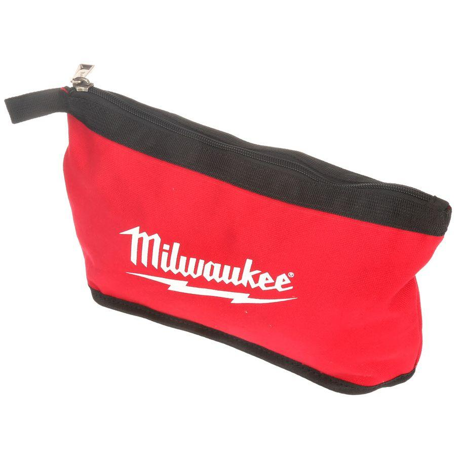Milwaukee Red Zipper Pouch-48-22-8180 - The Home Depot