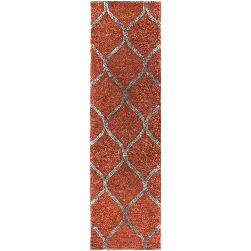 Urban Cassidy Red 2 ft. 3 in. x 12 ft. Indoor