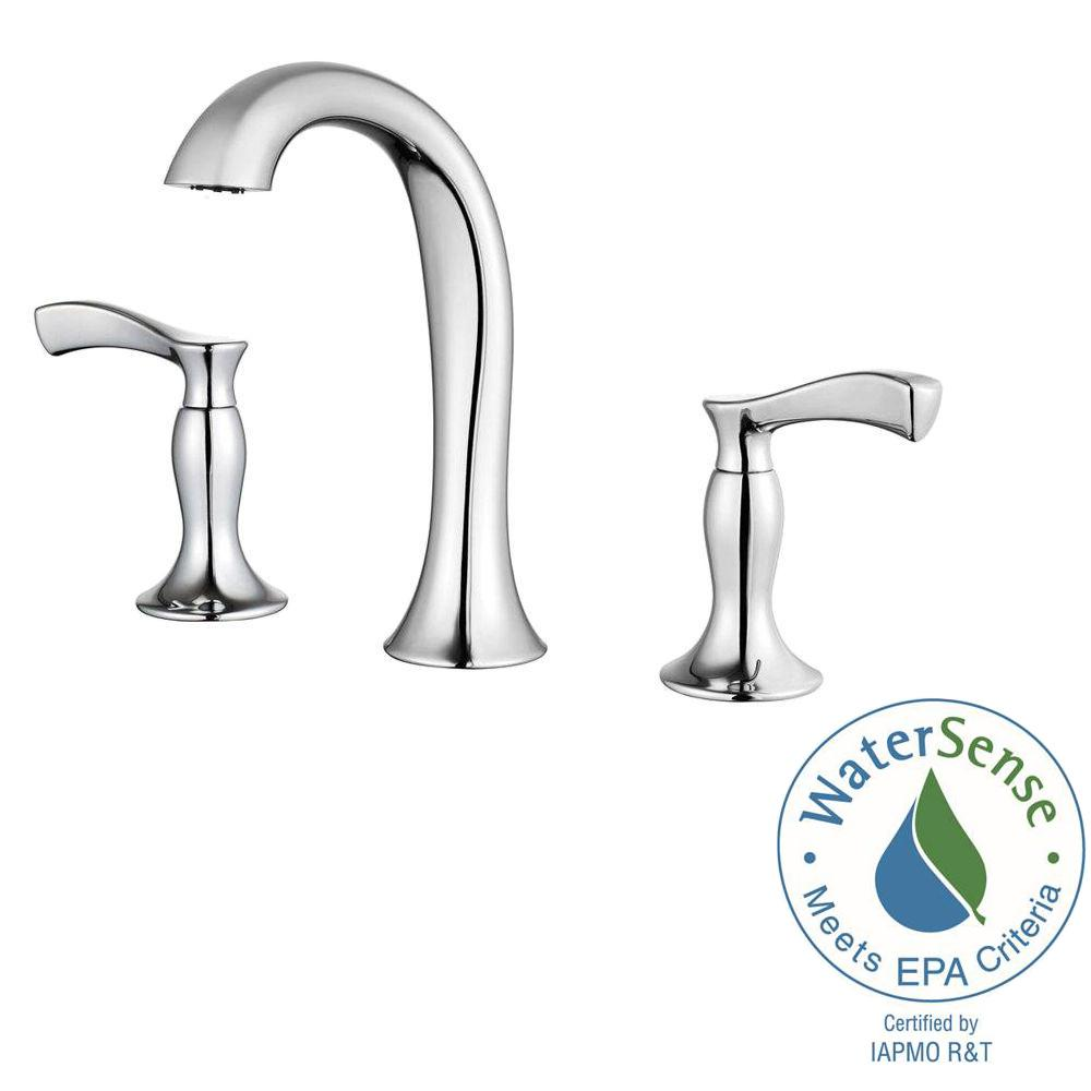 Pfister Cassano 8 In Widespread 2 Handle High Arc Bathroom Faucet In Polished Chrome F 049 Cscc