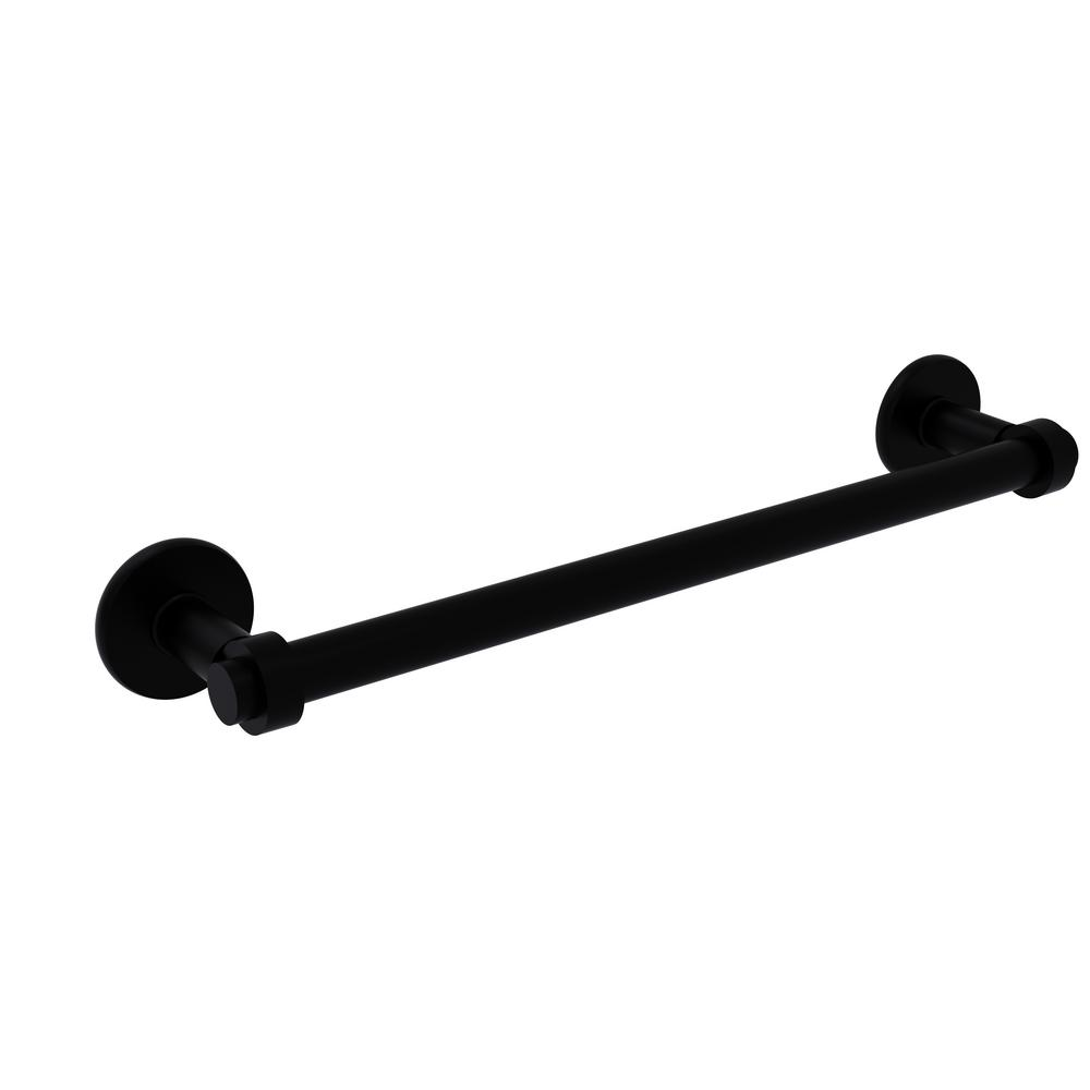 Allied Brass Continental Collection 36 in. Towel Bar in Matte Black