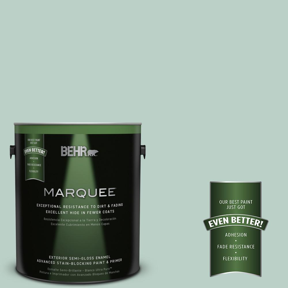 BEHR MARQUEE 1-gal. #S420-2 Moon Glass Semi-Gloss Enamel Exterior Paint-545001 -