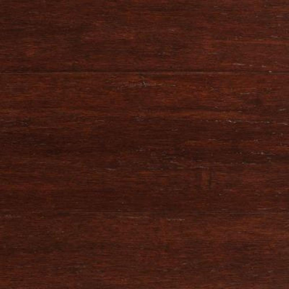 null Take Home Sample - Strand Woven Dark Mahogany Solid Bamboo Flooring - 5 in. x 7 in.