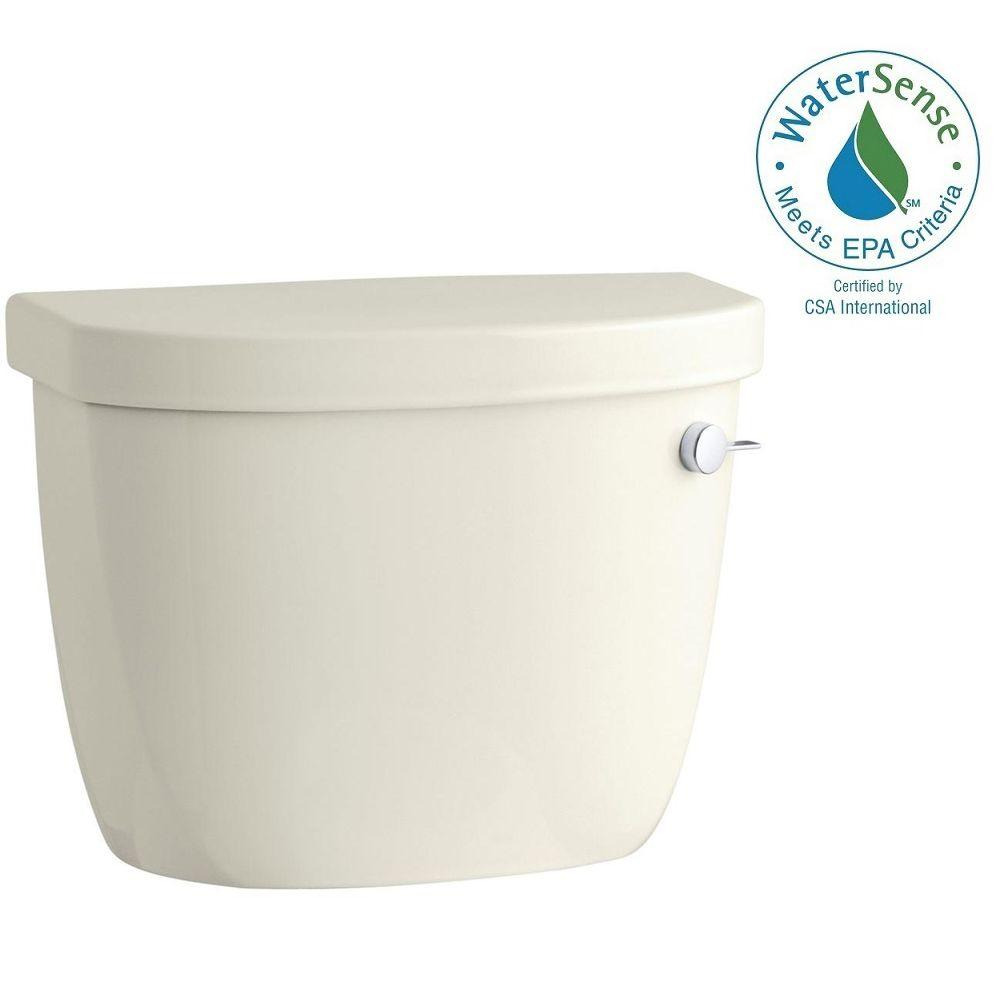 Cimarron 1.28 GPF Single Flush Toilet Tank Only in Biscuit