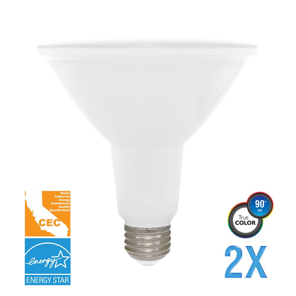 100W Equivalent Soft White PAR38 Dimmable LED CEC-Certified Light Bulb (2-Pack)