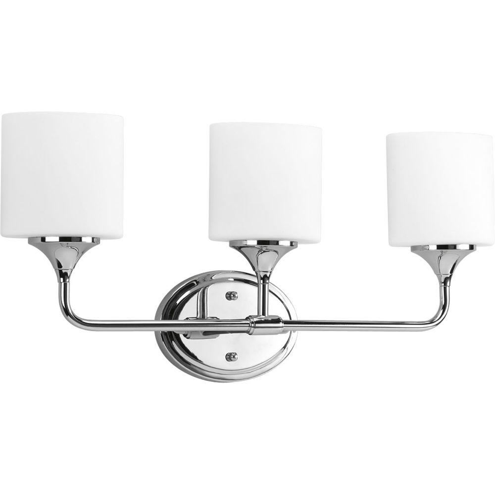 Progress Lighting Lynzie 3-Light Chrome Vanity Fixture