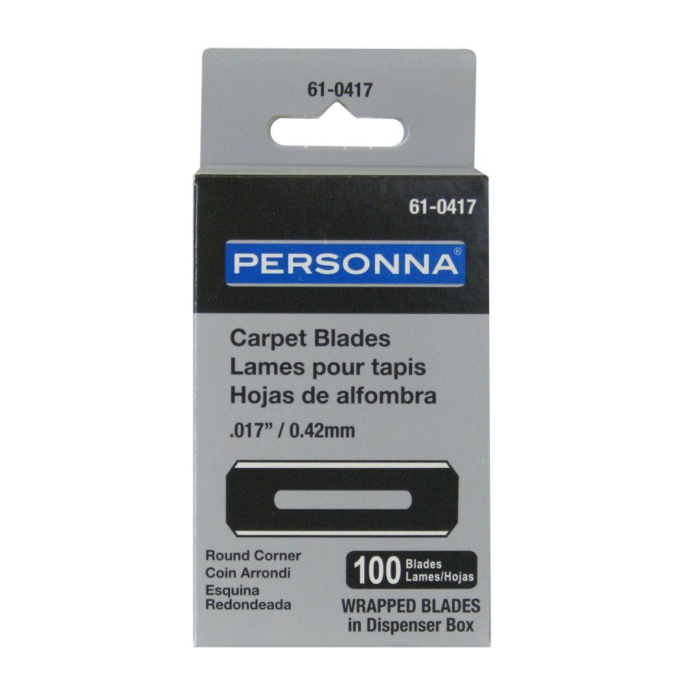 Personna Slotted Round Corner Carpet Blades (100-Pack)