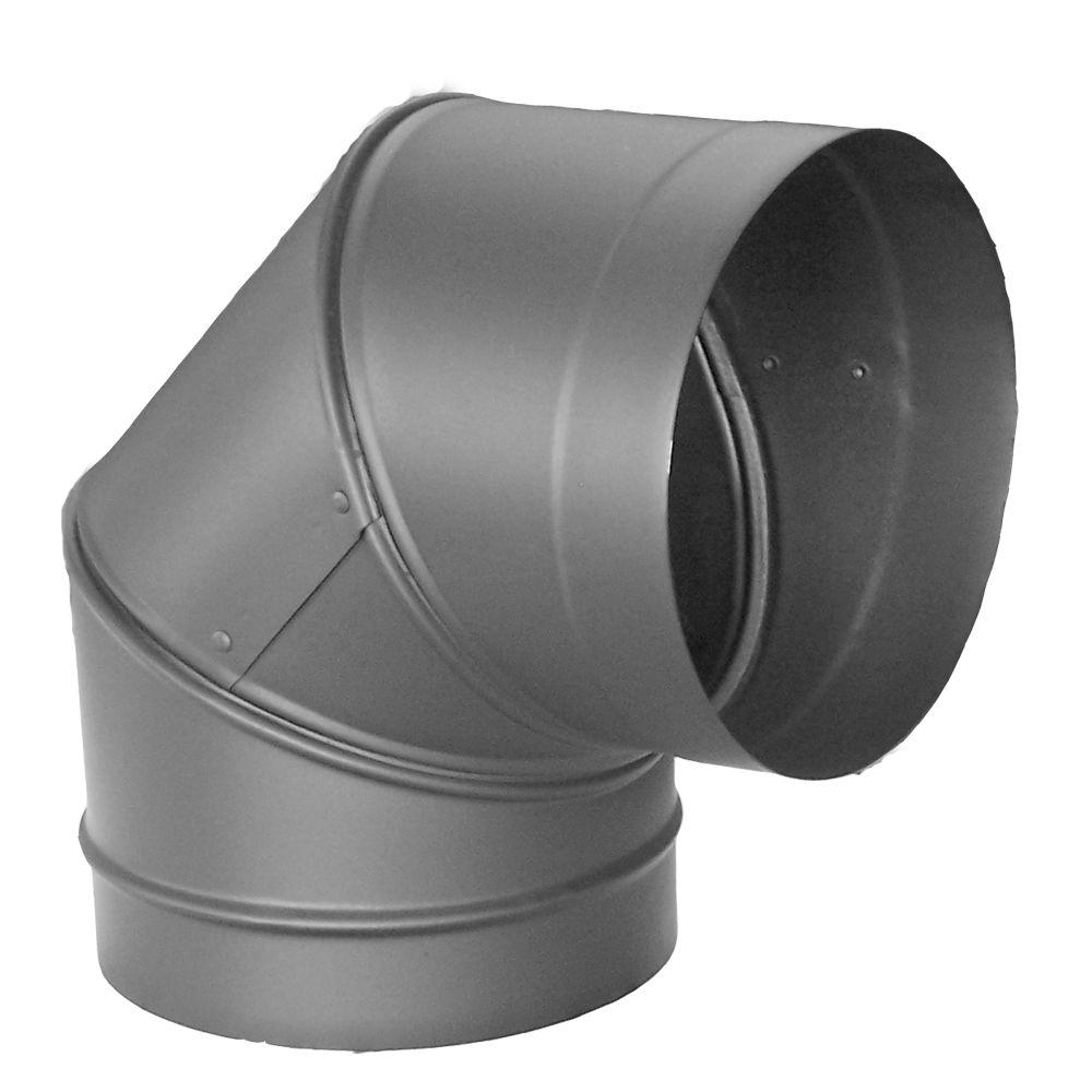 DuraVent DuraBlack 6 in. 90-Degree Elbow Single-Wall Chimney Stove Pipe