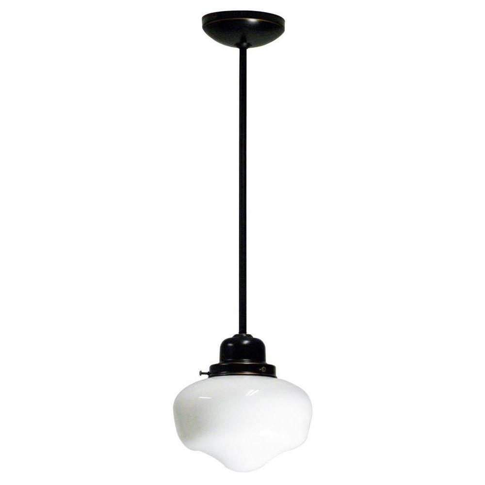 Marquis Lighting 1-Light Oil-Rubbed Bronze Pendant-9604-909-ORB - The Home Depot