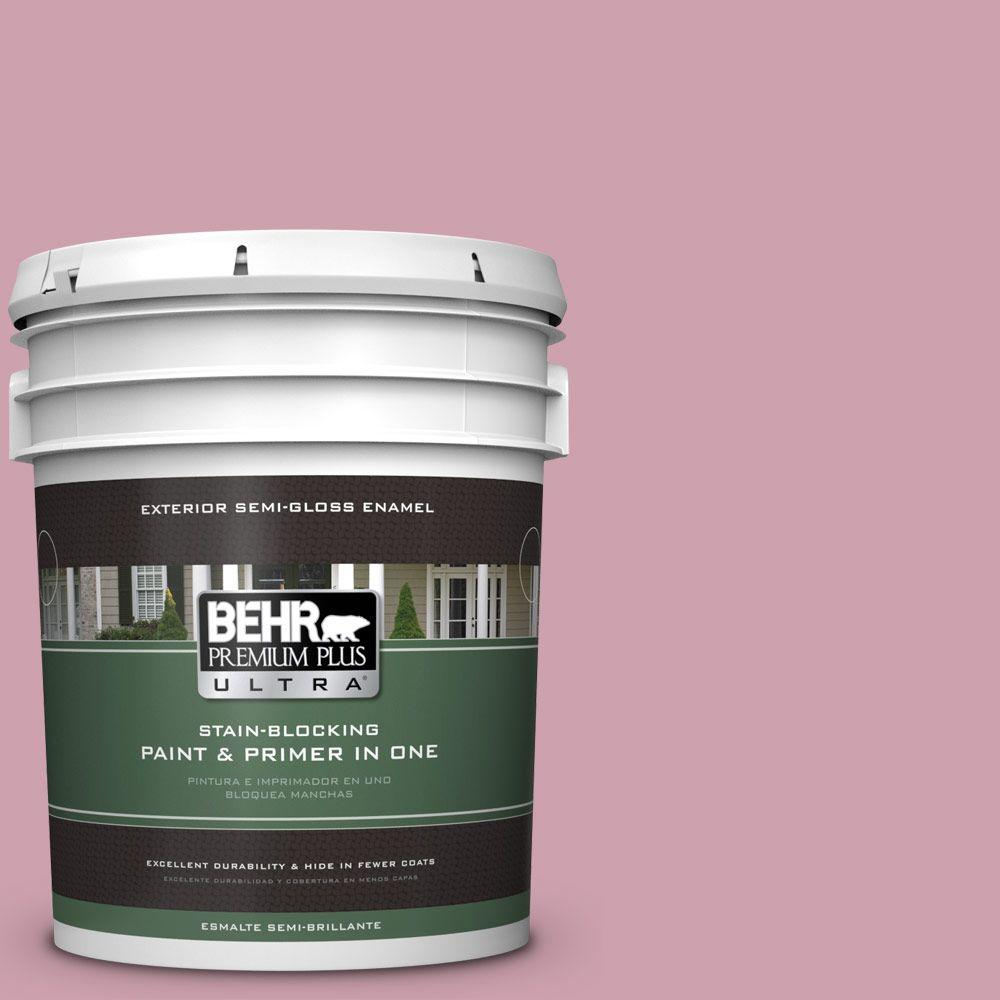 BEHR Premium Plus Ultra 5-gal. #100C-3 Birthday Candle Semi-Gloss Enamel Exterior Paint