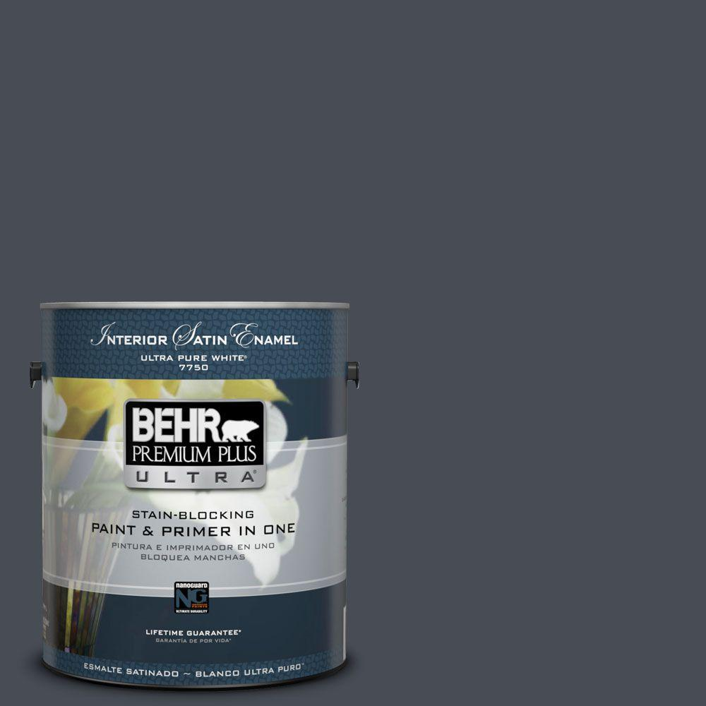 BEHR Premium Plus Ultra 1-gal. #750F-6 Sled Satin Enamel Interior Paint