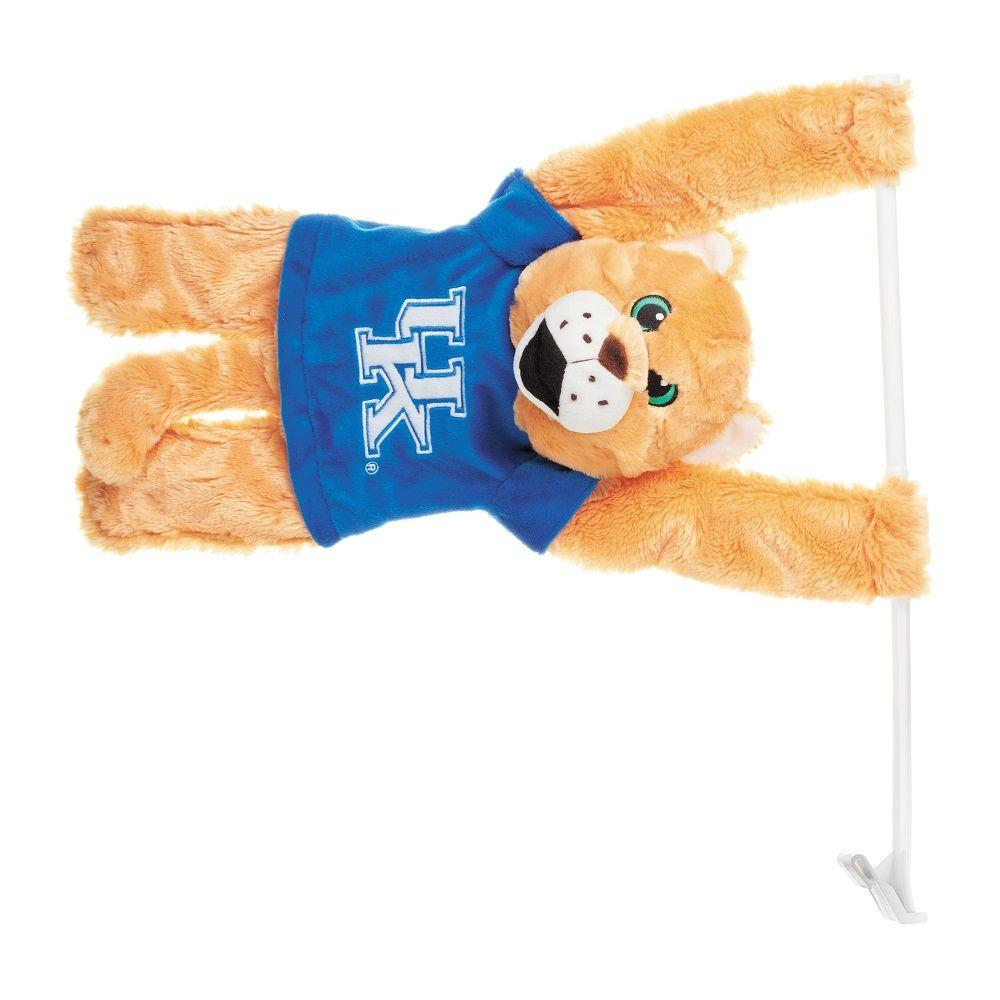 BSI Products NCAA Kentucky Wildcats 3D Mascot 1 ft. 3 in. x 1.5 ft. Car Flag