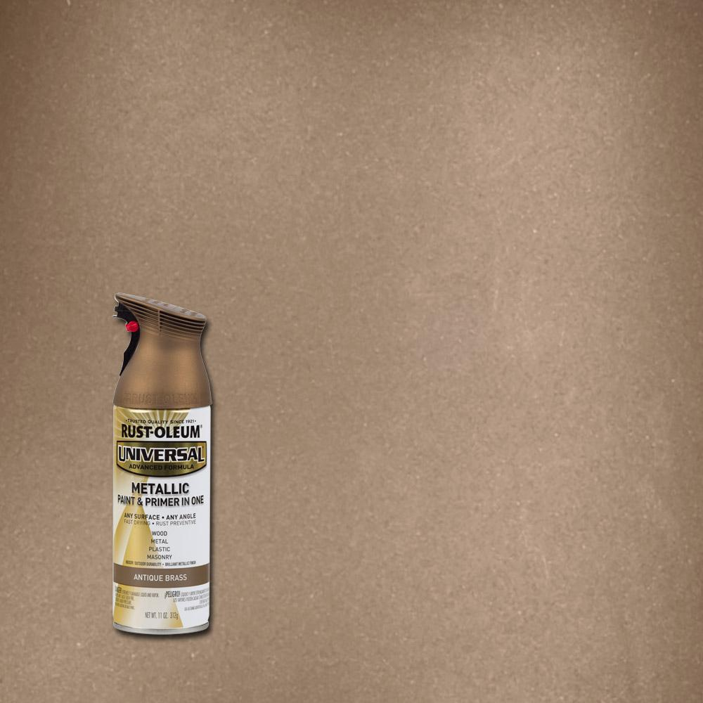 Rust Oleum Universal 11 Oz All Surface Metallic Antique Brass Spray Paint And Primer In 1 6