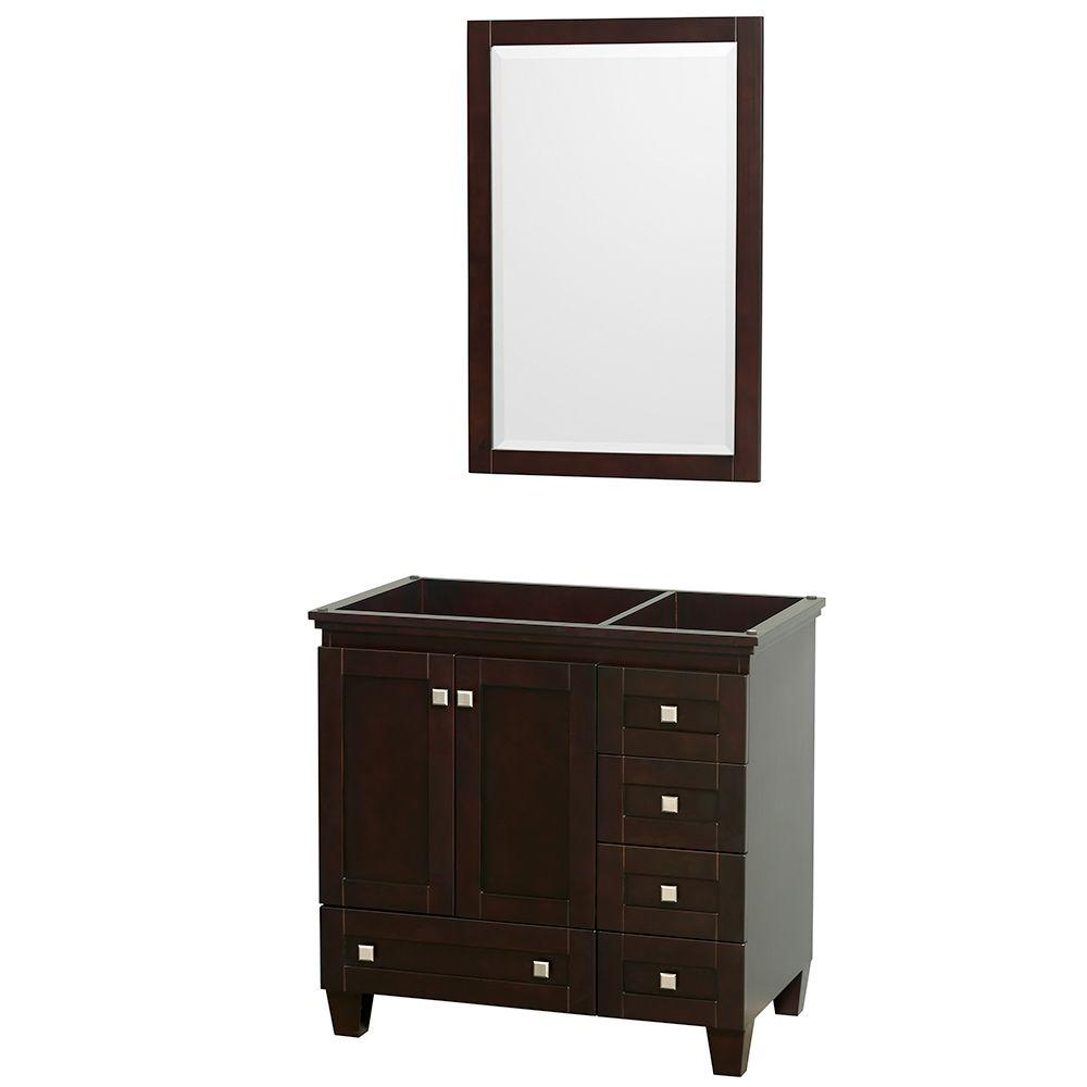 Wyndham Collection Acclaim 36 in. Vanity Cabinet with Mirror in