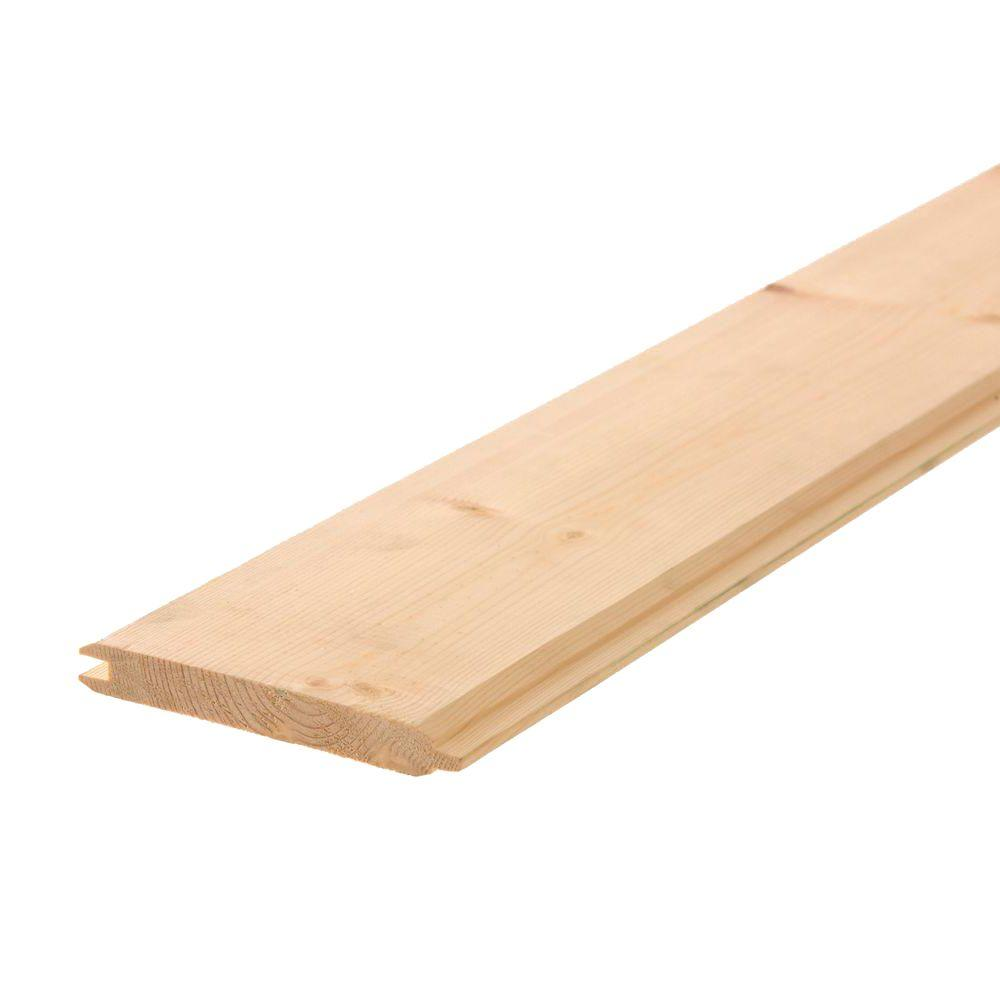 1 In X 6 In X 12 Ft Tongue And Groove Pine Board 43716 The Home Depot