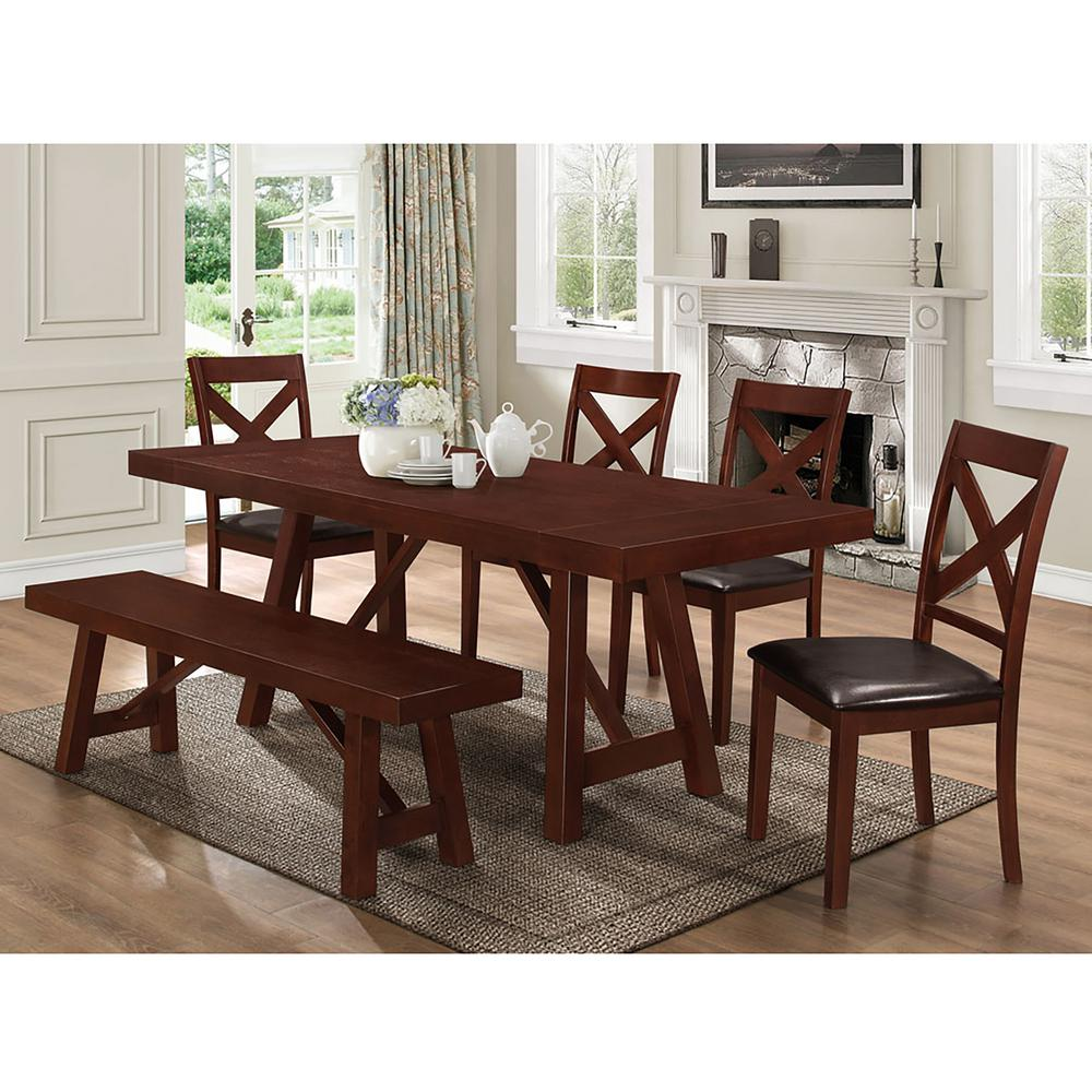 Home Decorators Collection Aldridge Extendable 84 In Dining Bench In Antique Walnut 2838500960