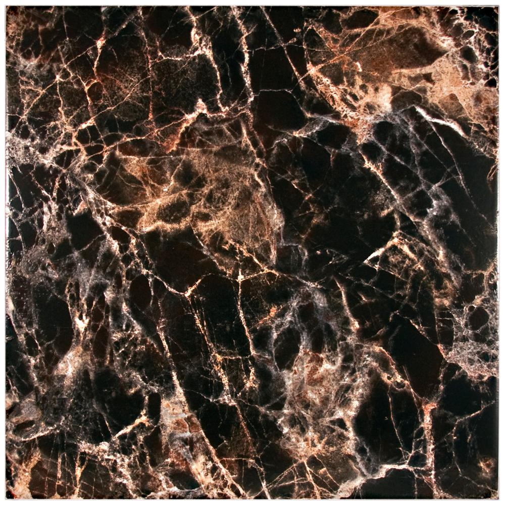 Merola Tile Eclipse Negro 17-3/4 in. x 17-3/4 in. Ceramic Floor and Wall Tile (15.3 sq. ft. / case)