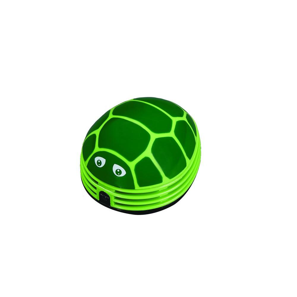 crumby mini portable battery powered vacuum   turtle a003