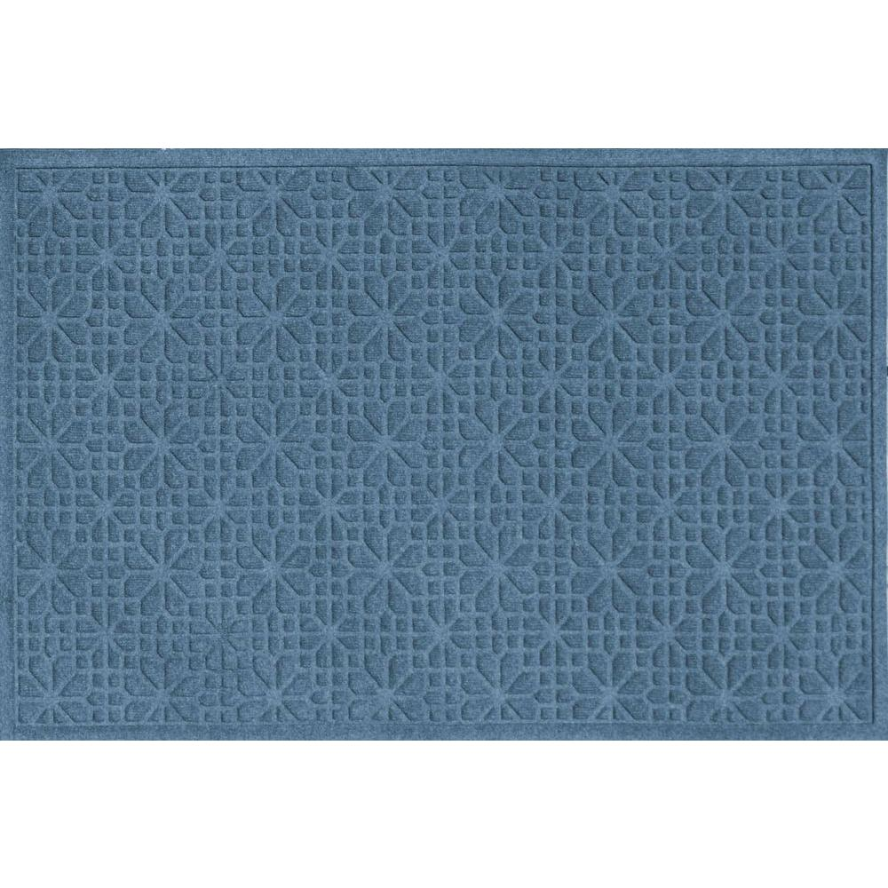 WaterGuard Stained Glass Bluestone 3 ft. x 5 ft. Polypropylene Mat
