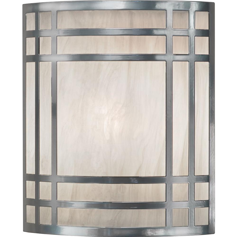 Filament Design 12 in. 1-Light Chrome Interior Wall Sconce