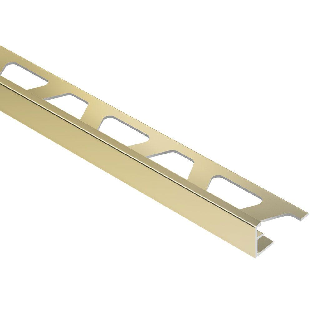 Jolly Polished Brass Anodized Aluminum 5/16 in. x 8 ft. 2-1/2