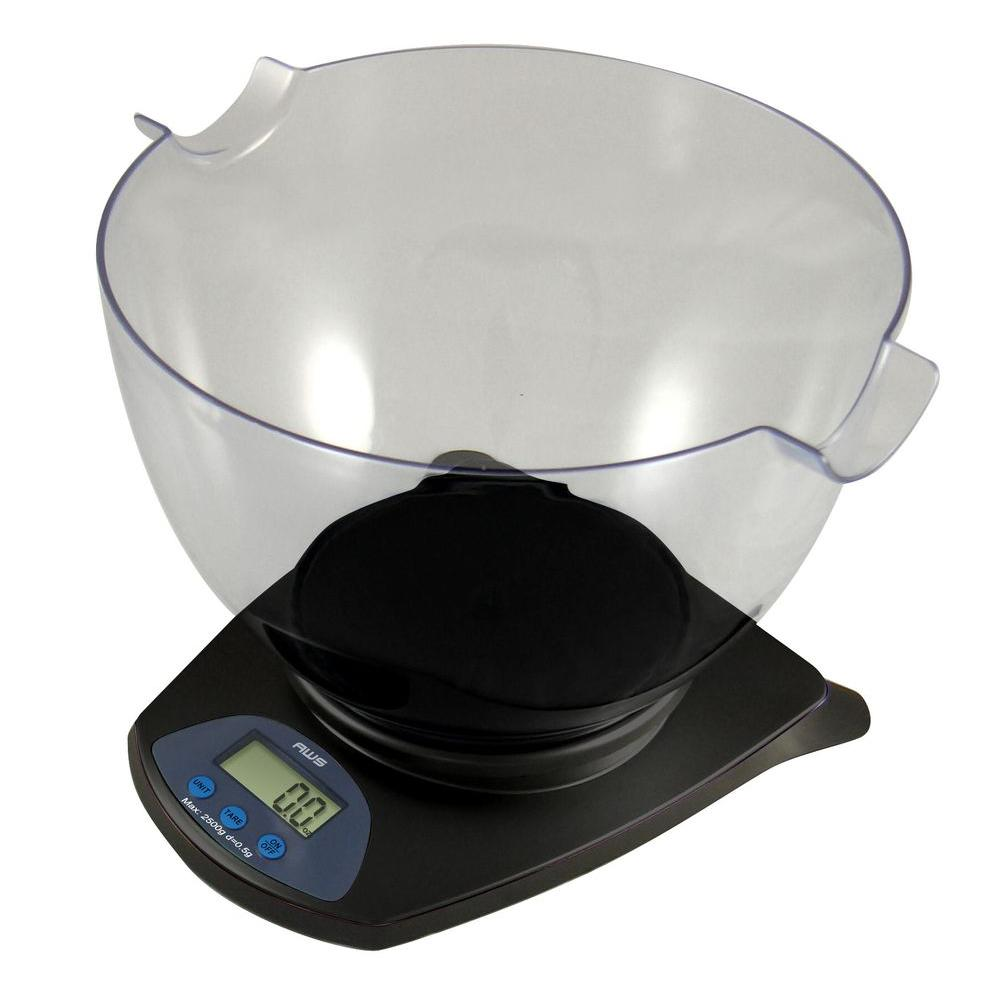 Digital Multifunction Kitchen and Food Scale in Elegant Black