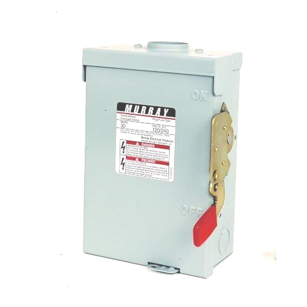 null General Duty 30 Amp 240-Volt Three-Pole Indoor Non-Fusible Safety Switch