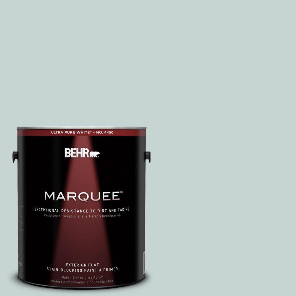 BEHR MARQUEE 1-gal. #490E-3 Celtic Gray Flat Exterior Paint-445001 - The