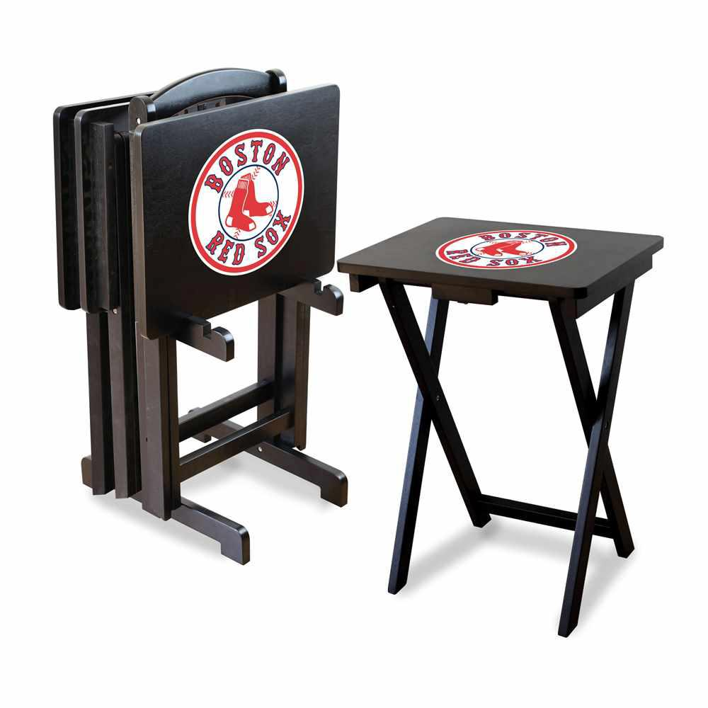 Boston Red Sox 4-TV Tray and Stand Set