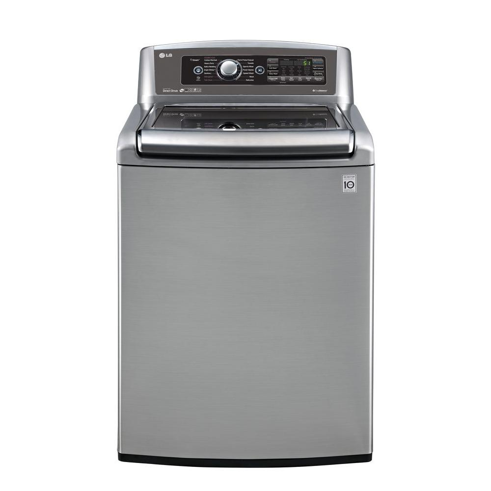 LG Electronics 5.0 cu. ft. High-Efficiency Top Load Washer with Steam in Graphite Steel, ENERGY STAR