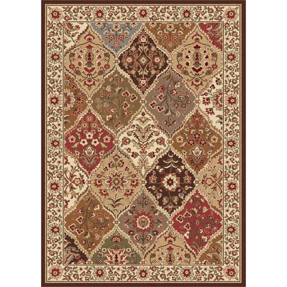 Tayse Rugs Elegance Multi 5 ft. x 7 ft. Traditional Area