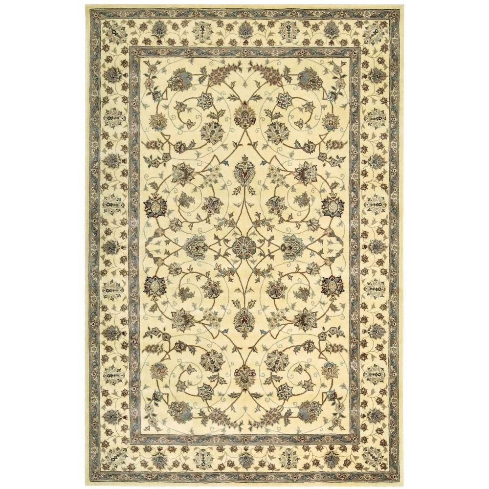 2000 Ivory 5 ft. 6 in. x 8 ft. 6 in. Area Rug