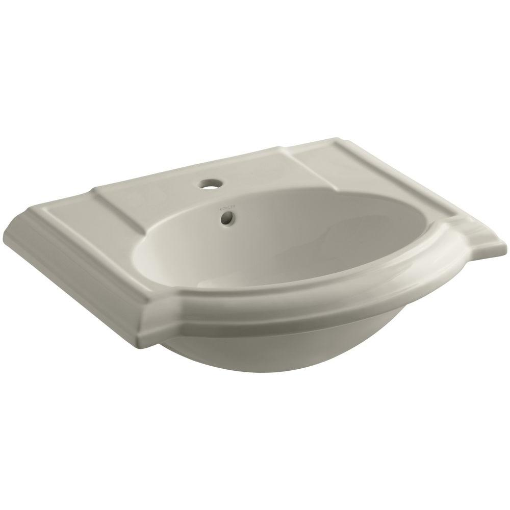 Devonshire 24-1/8 in. Vitreous China Pedestal Sink Basin in Sandbar with