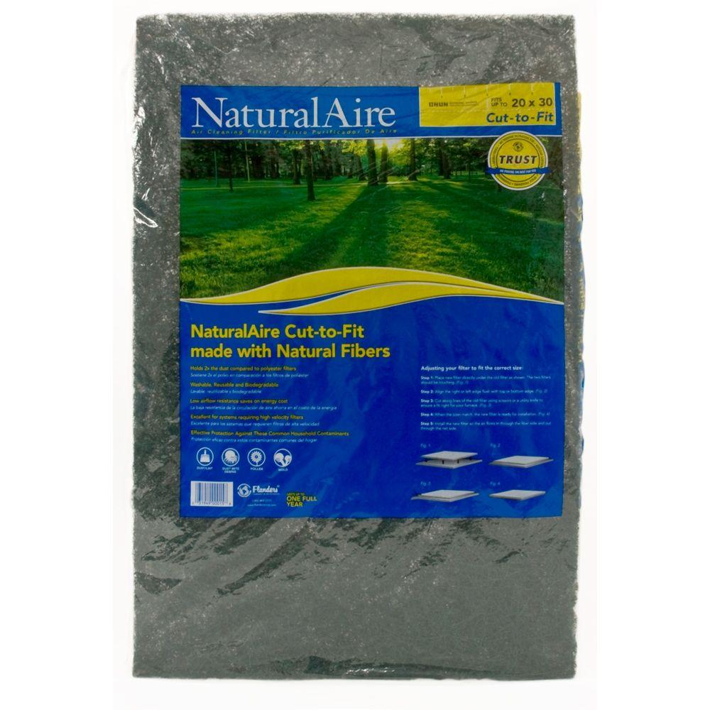 NaturalAire 24 in. x 36 in. x 1 in. Cut-To-Fit (Case of 12)